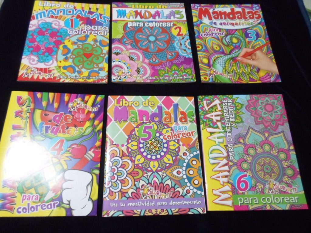 6 Libros Mandalas Para Colorear Ed Color Y Arte - $ 200.00 en ...