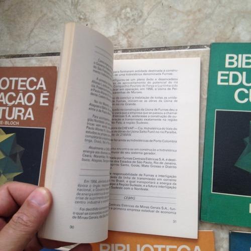6 livros biblioteca educação é cultura mec mme bloch coleção