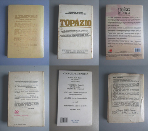 6 livros - literatura estrangeira - vários autores - lote 7