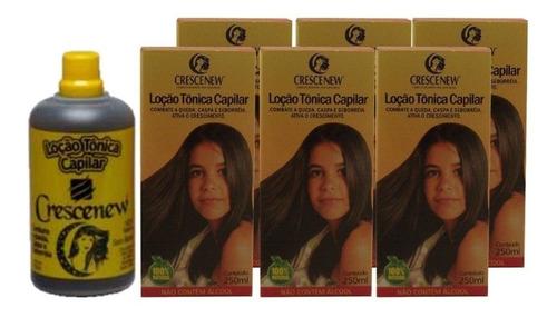 6 loções de jaborandi anti-queda e crescimento cabelo - 6 unidades - queda de cabelo