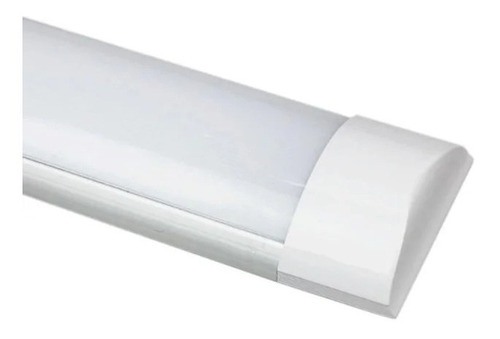 6 luminária led tubular sobrepor slim bivolt 120cm 6000k 36w
