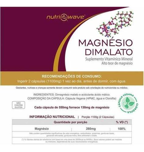 6 magnésio dimalato cápsula vegana puro promoção fretegrátis