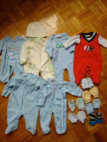 6 mamelucos con guantes 0-3 meses