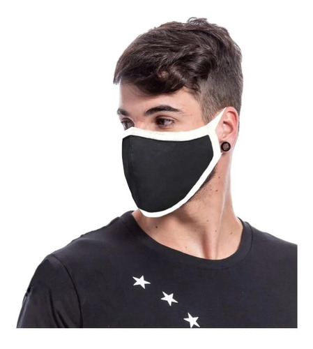 6 máscaras proteção virus e poluição lavável 100% poliester
