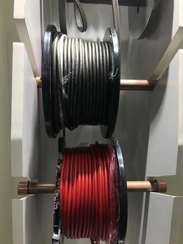 6 metros de cabo rockfordfosgate vermelho/ preto 8awg