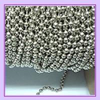6 mts cadena metalica para cortina roller y 4 union plastica