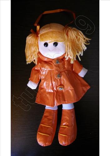 6 muñecas  peponas  soft con colitas de lana