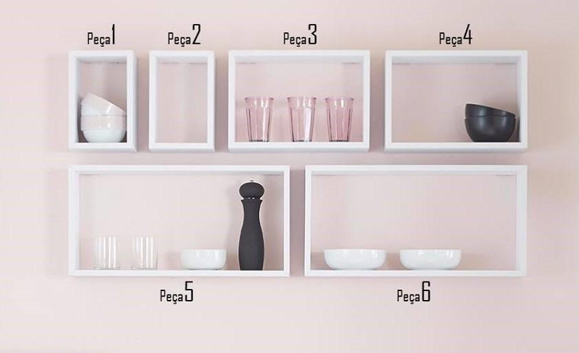 Armario De Parede Com Nicho : Nichos de parede mdf branco cm prof cozinha quarto
