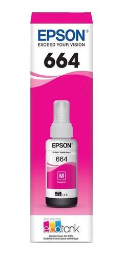 6 pack botella tinta epson t664 3 negro + 3 color