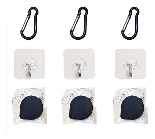 6 packs orzero elementos de amarre y el adhesivo ganchos par