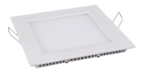 6 painel plafon 18w luminaria led quadrado embuti ultra slim