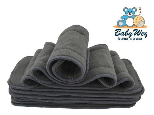 6 pañal ecológico carbón + 6 absorbentes de carbon bambu