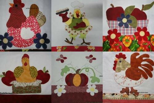 6 panos de prato patchwork