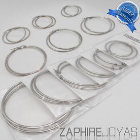 8e00264210e1 Aros Argolla Grandes - Aros de Acero quirúrgico en Mercado Libre ...
