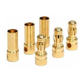 6 Par Conector Banana Gold Bullet 3,5 Mm