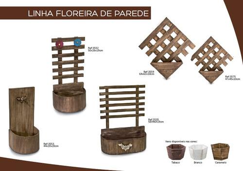 6 pç cachepot vaso m + 6 pç cachepot vaso g madeira3542 3543