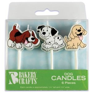 6 pc perro de perrito velas de la torta