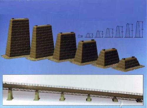 6 pçs elevado de pedras p/ maquete frateschi ho 1/87 hbm308