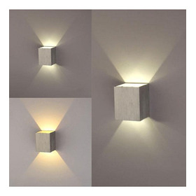 6 Pcs New Modern 3w Led Square Lámpara De Pared Hall Walkwa