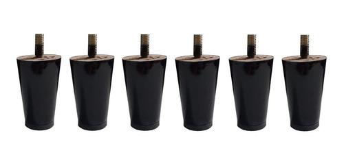 6 pé mini palito fixo 6cm preto tabaco proteção plástico