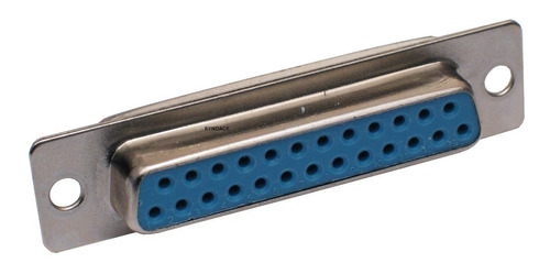 6 peças * conector db25 fêmea 180º para soldar fio