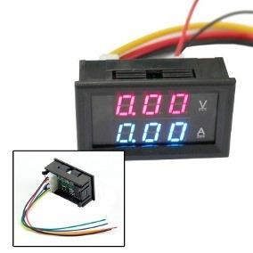 6 peças voltímetro amperímetro digital dc 0-100v 10a