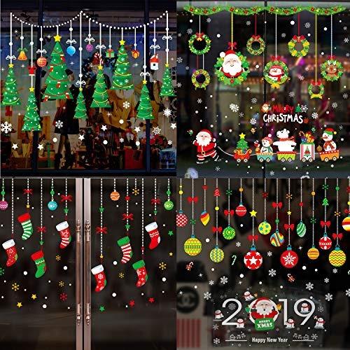 6 Pegatinas De Decoración Para Ventanas De Navidad Diseño De