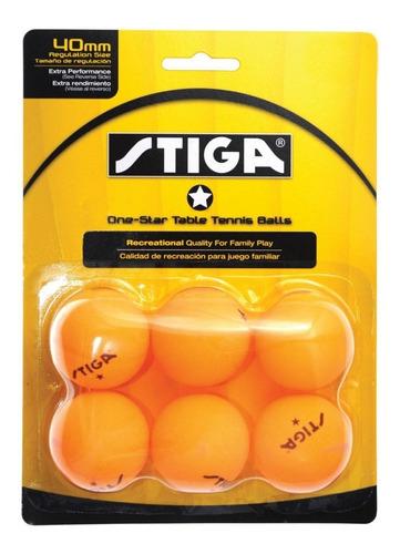 6 pelotas stiga 1-estrella ping pong tenis de mesa beerpong