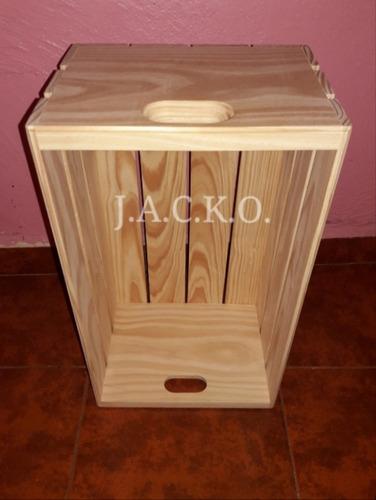 6 piezas huacales cajas de madera repisas librero decoración