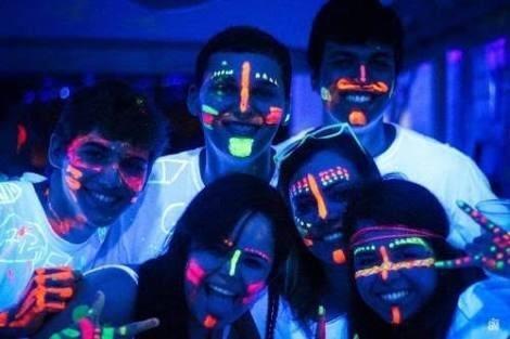 6 pintura neon glow fiesta maquillaje colores u paint luces