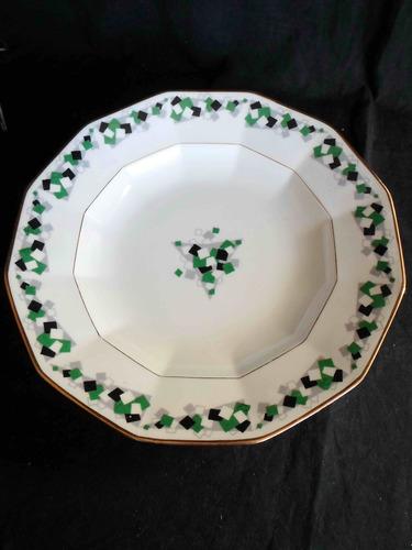 6 platos hondos de diseño en porcelana francesa de limoges