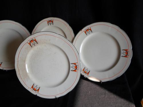 6 platos playos en loza inglesa alfred meakin royal marigold