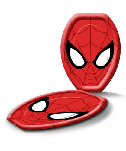 6 platos spiderman cumpleaños / festimania