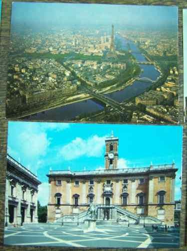 6 postales * roma firenze venezia paris greece granada *