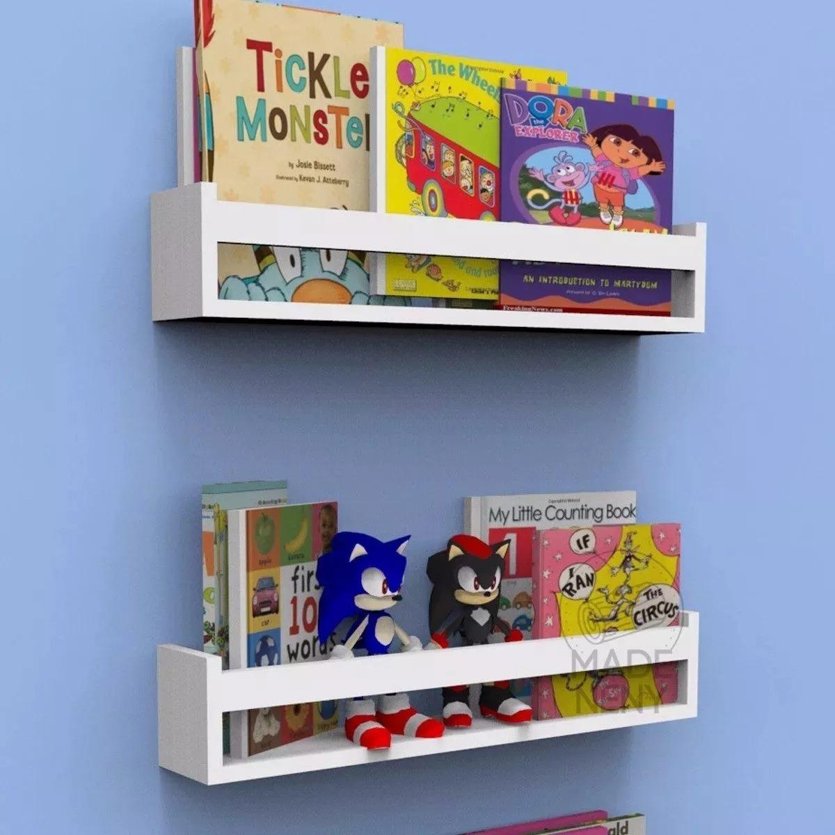6 Prateleira Para Quarto Bebe Livros Nicho Infantil Estante R  ~ Estante De Livros Quarto Infantil