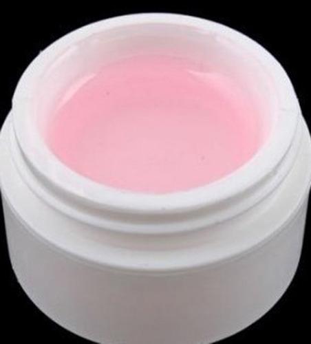 6 presilhas c + 2 po de fibra 30 g + 1 gel rosa uv 15 ml