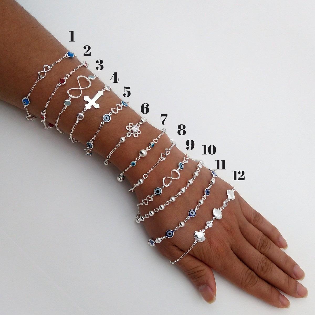 a302773e2 6 pulseiras feminina com bolinhas em prata 925 frete grátis. Carregando  zoom.