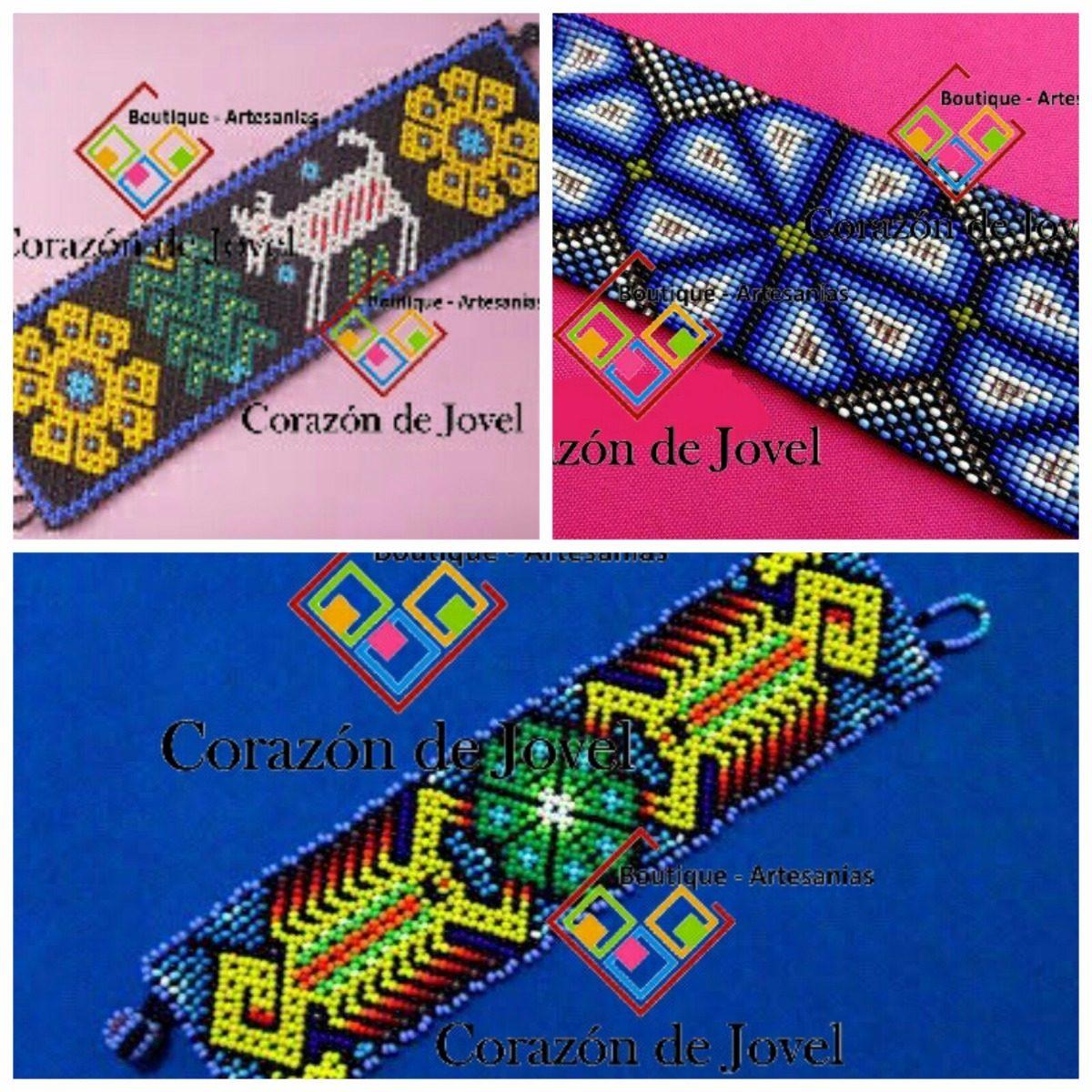 b93008882445 6 Pulseras Tejidas En Chaquira artesanales De Chiapas!! -   550.00 ...