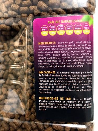 6 pz alimento premium huron mustelidos redkite 850 gr fl4005