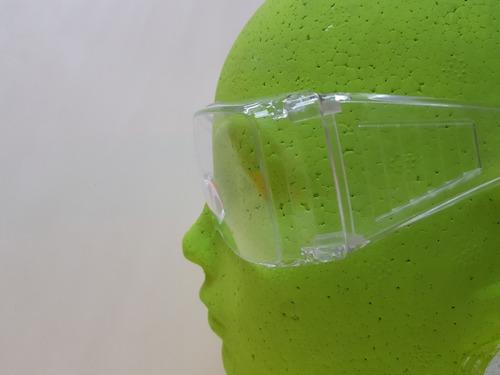 6 pzas lente seguridad trans tipo goggle ventilación lateral