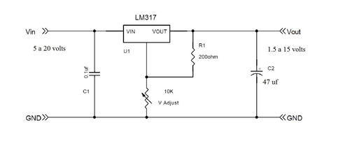 6 pzs regulador lm317 voltaje salida ajustable 1 5 amperes