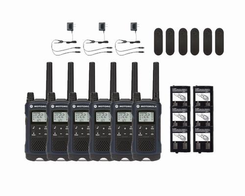 6 radio comunicadores motorola walk talk talkabout t460 56km