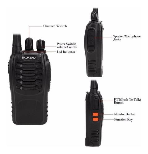 6 radios baofeng bf-888s uhf c/manos l, envio gratis rapido