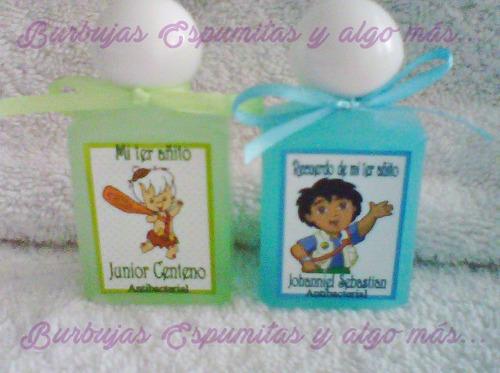 6 recuerditos cremitas o gel de baño cumpleaños cotillón spa