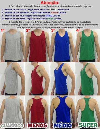 6 regata masculina cavada masculina academia camiseta camisa