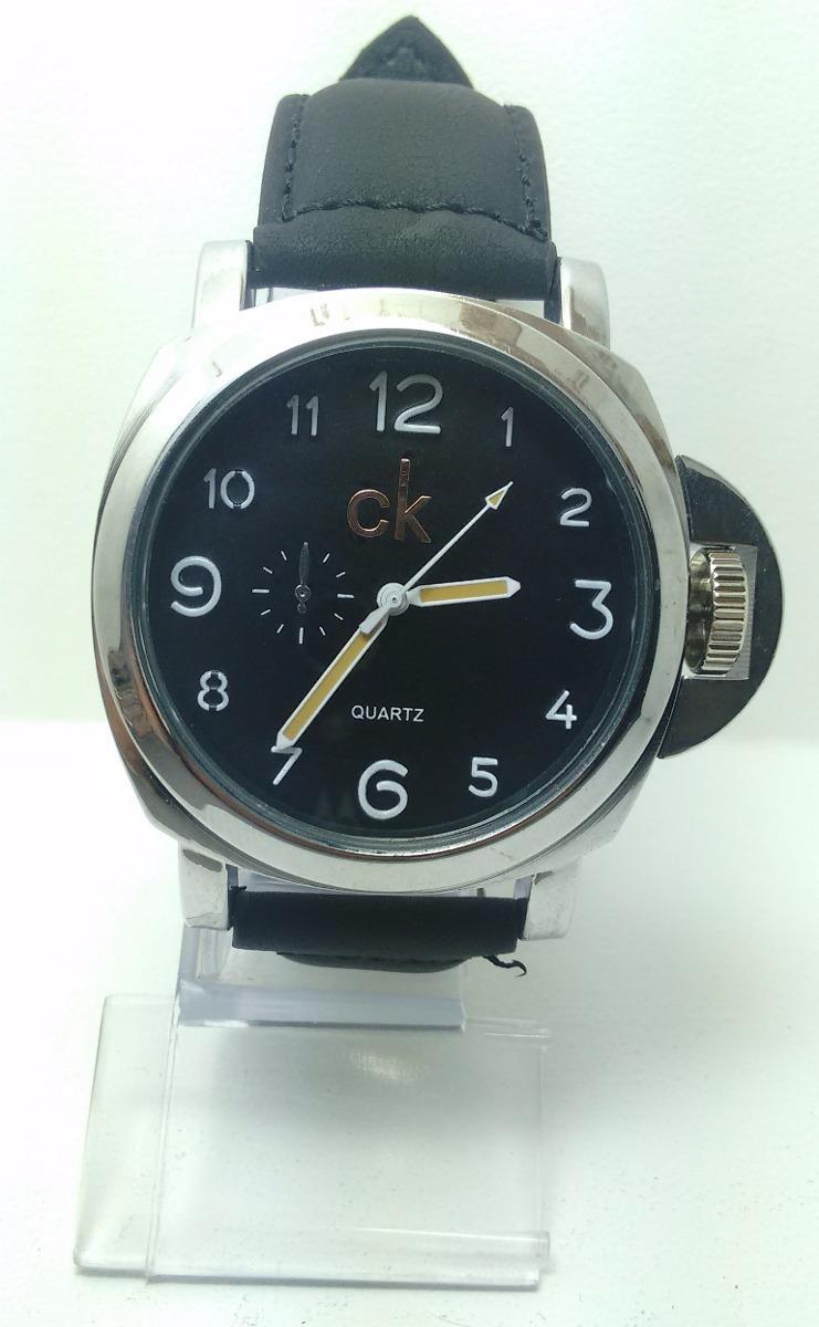 3576c94a50981 6 Relógio Masculino Luxo Ck Pulseira Couro Atacado Promoção - R  130 ...