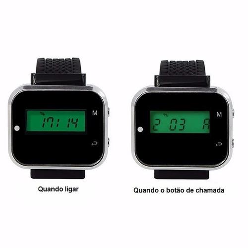 6 relógios chama garçon + 60 campainhas frete grátis