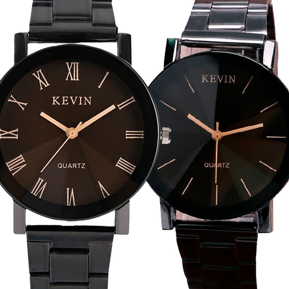 823fd8b150b6 6 relojes marca kevin metalico negro hombre caballero metal. Cargando zoom.