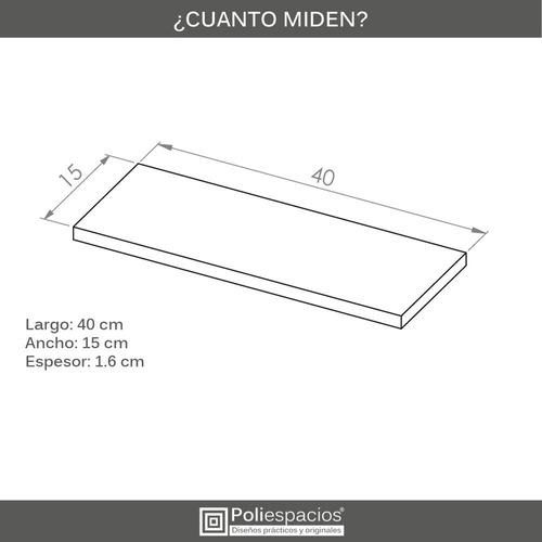 6 repisas flotantes minimalistas melamina vintage 40x15 cm