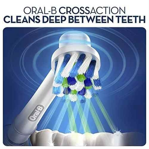 6 repuestos cabezal cross action cepillo electrico oral-b